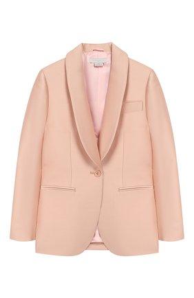 Детский костюм из жакета и брюк STELLA MCCARTNEY светло-розового цвета, арт. 600183/S0KF1 | Фото 2