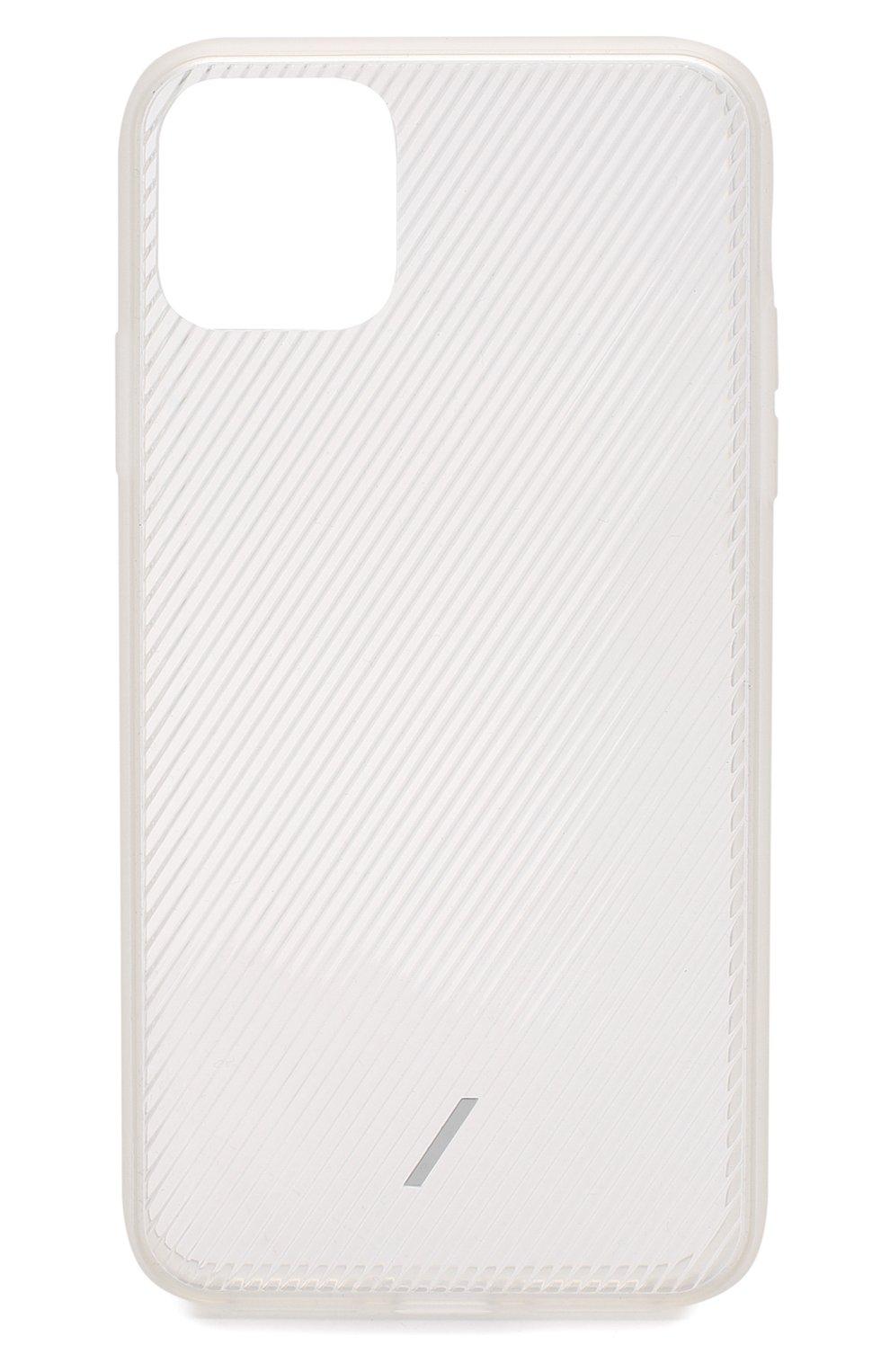 Мужской чехол для iphone 11 pro max NATIVE UNION прозрачного цвета, арт. CVIEW-FRO-NP19L   Фото 1