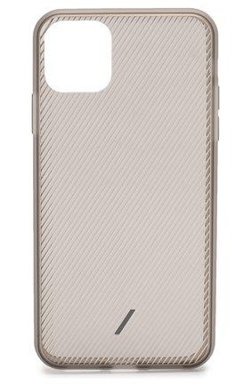 Мужской чехол для iphone 11 pro max NATIVE UNION прозрачного цвета, арт. CVIEW-SMO-NP19L   Фото 1