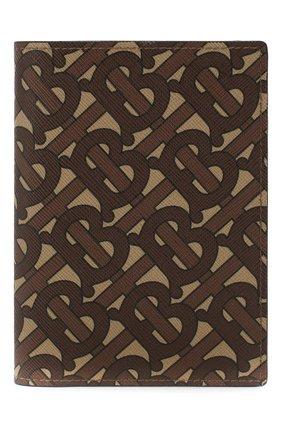 Мужская обложка для паспорта BURBERRY бежевого цвета, арт. 8022964 | Фото 1