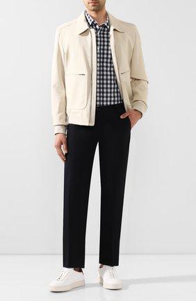 Мужские кожаные кеды SANTONI белого цвета, арт. MBGL21300PNNXLLII39 | Фото 2