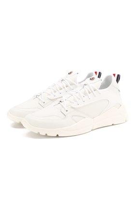 Мужские кожаные кроссовки anakin MONCLER белого цвета, арт. F1-09A-4M708-00-02S95 | Фото 1