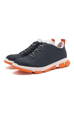 Мужские кожаные кроссовки SWIMS синего цвета, арт. 21311 | Фото 1