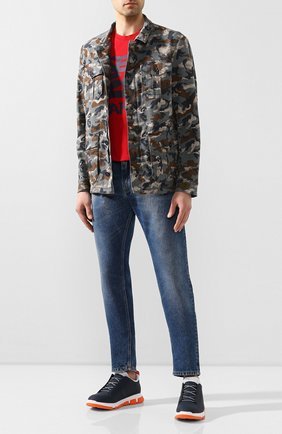 Мужские кожаные кроссовки SWIMS синего цвета, арт. 21311 | Фото 2