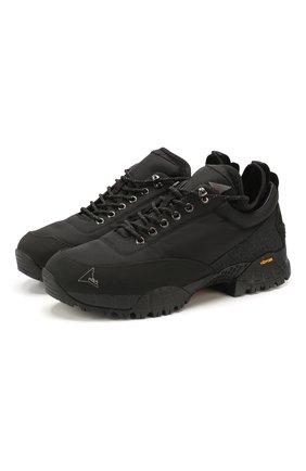 Мужские комбинированные кроссовки ROA черного цвета, арт. VAR410 | Фото 1