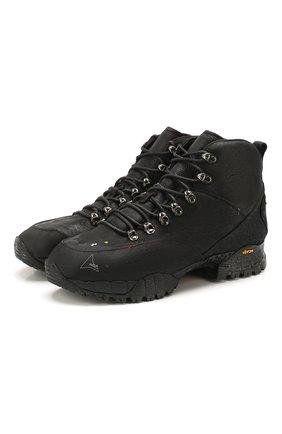 Мужские комбинированные ботинки ROA черного цвета, арт. VAR415 | Фото 1