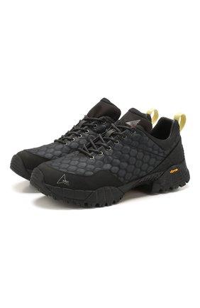 Мужские комбинированные кроссовки oblique ROA черного цвета, арт. VAR500 | Фото 1