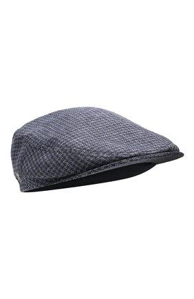 Мужская кепи из смеси льна и шерсти CORNELIANI темно-синего цвета, арт. 850338-0129236/00 | Фото 1