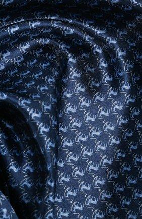 Мужской шелковый платок CORNELIANI темно-синего цвета, арт. 85UF27-0120396/00 | Фото 2