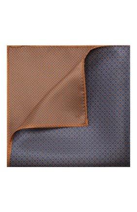 Мужской шелковый платок CORNELIANI синего цвета, арт. 85UF27-0120397/00 | Фото 1