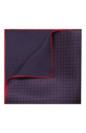 Мужской шелковый платок CORNELIANI фиолетового цвета, арт. 85UF27-0120397/00 | Фото 1