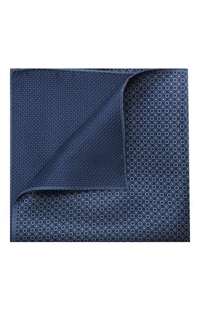 Мужской шелковый платок CORNELIANI темно-синего цвета, арт. 85UF27-0120397/00 | Фото 1