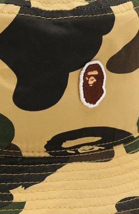 Мужская хлопковая панама BAPE желтого цвета, арт. 1G30180022 | Фото 3