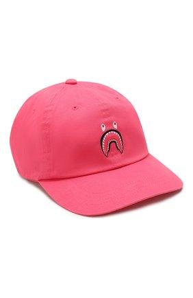 Мужской хлопковая бейсболка BAPE розового цвета, арт. 1G30180018 | Фото 1