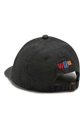 Мужской хлопковая бейсболка BAPE черного цвета, арт. 1G30180018 | Фото 2