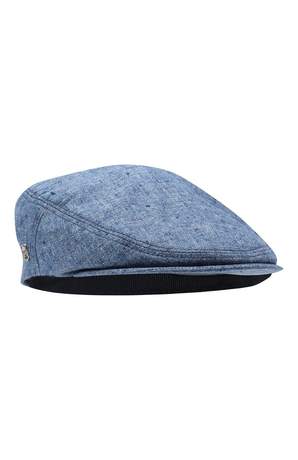 Мужская кепи из смеси шелка и шерсти CORNELIANI синего цвета, арт. 850338-0129241/00   Фото 1