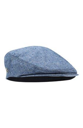Мужская кепи из смеси шелка и шерсти CORNELIANI синего цвета, арт. 850338-0129241/00 | Фото 1
