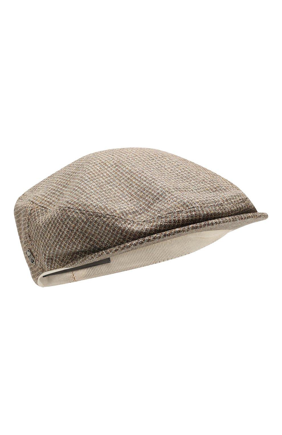 Мужская кепи из смеси шелка и шерсти CORNELIANI коричневого цвета, арт. 850338-0129241/00   Фото 1