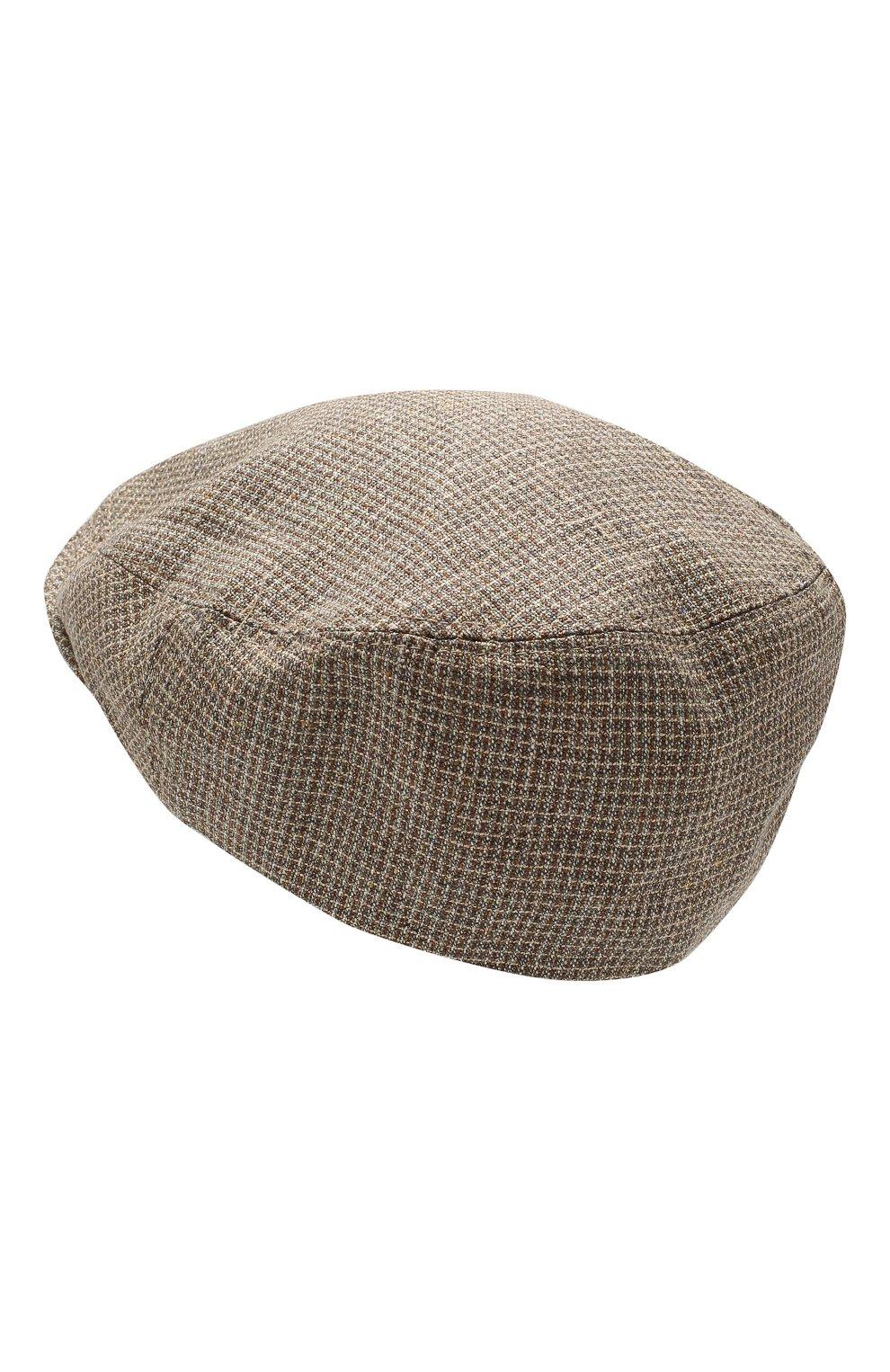 Мужская кепи из смеси шелка и шерсти CORNELIANI коричневого цвета, арт. 850338-0129241/00   Фото 2