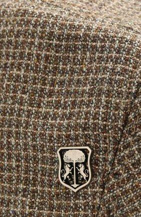 Мужская кепи из смеси шелка и шерсти CORNELIANI коричневого цвета, арт. 850338-0129241/00   Фото 3