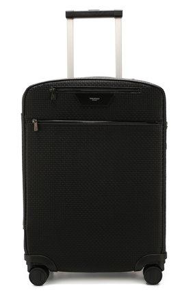 Мужской дорожный чемодан SERAPIAN черного цвета, арт. SSTEPMTR7064M55B | Фото 4