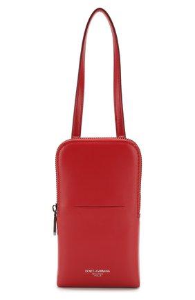 Мужского кожаный чехол для iphone DOLCE & GABBANA красного цвета, арт. BP2575/AJ806 | Фото 1
