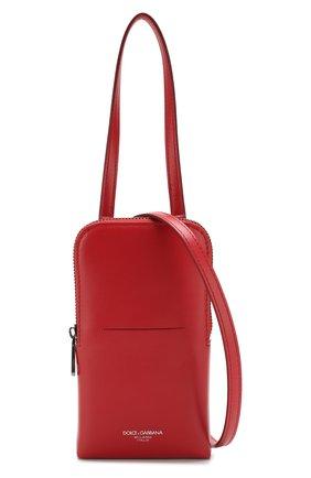 Мужского кожаный чехол для iphone DOLCE & GABBANA красного цвета, арт. BP2575/AJ806 | Фото 4
