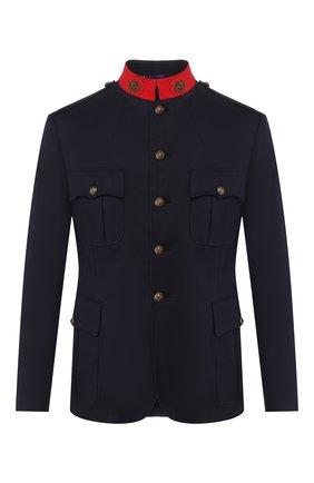 Мужской хлопковый пиджак RALPH LAUREN темно-синего цвета, арт. 798798025 | Фото 1
