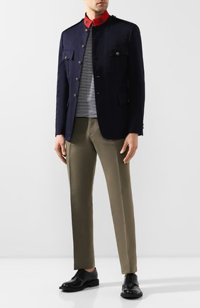 Мужской хлопковый пиджак RALPH LAUREN темно-синего цвета, арт. 798798025 | Фото 2