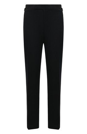 Мужской брюки из смеси хлопка и шелка TOM FORD темно-синего цвета, арт. 774R30/610043   Фото 1
