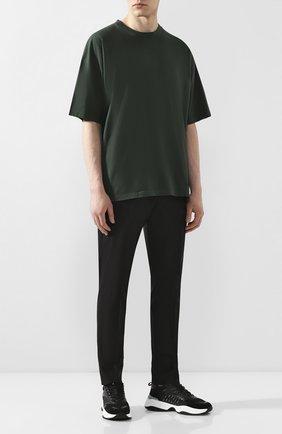 Мужская хлопковая футболка KAZUYUKI KUMAGAI зеленого цвета, арт. KJ01-021 | Фото 2