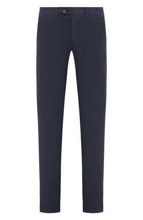 Мужской брюки из смеси хлопка и шелка CORNELIANI синего цвета, арт. 854ER1-0120173/00 | Фото 1