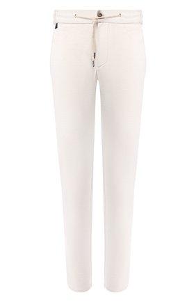 Мужские хлопковые брюки ANDREA CAMPAGNA белого цвета, арт. SPIAGGIA/AN1100 | Фото 1 (Материал внешний: Хлопок; Длина (брюки, джинсы): Стандартные; Мужское Кросс-КТ: Брюки-трикотаж; Случай: Повседневный)