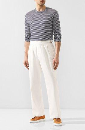Мужские хлопковые брюки RALPH LAUREN белого цвета, арт. 790787186 | Фото 2