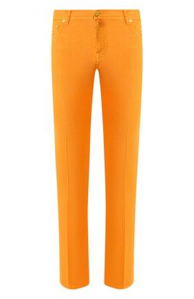 Мужские брюки KITON оранжевого цвета, арт. UPNJSJ07S73 | Фото 1