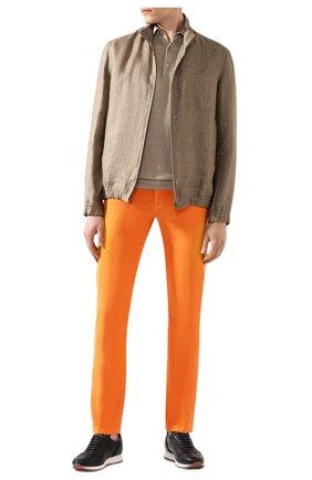 Мужские брюки KITON оранжевого цвета, арт. UPNJSJ07S73 | Фото 2