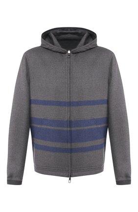 Мужская двусторонняя кашемировая куртка LORO PIANA серого цвета, арт. FAL0801 | Фото 1 (Длина (верхняя одежда): Короткие; Материал внешний: Шерсть, Кашемир; Мужское Кросс-КТ: Куртка-верхняя одежда, Верхняя одежда, шерсть и кашемир; Рукава: Длинные; Кросс-КТ: Куртка)