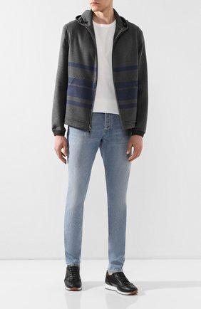 Мужская двусторонняя кашемировая куртка LORO PIANA серого цвета, арт. FAL0801 | Фото 2 (Длина (верхняя одежда): Короткие; Материал внешний: Шерсть, Кашемир; Мужское Кросс-КТ: Куртка-верхняя одежда, Верхняя одежда, шерсть и кашемир; Рукава: Длинные; Кросс-КТ: Куртка)