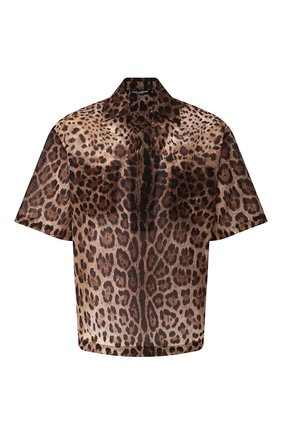 Мужская рубашка DOLCE & GABBANA коричневого цвета, арт. G5HB0T/HSMJW   Фото 1
