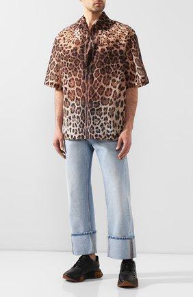Мужская рубашка DOLCE & GABBANA коричневого цвета, арт. G5HB0T/HSMJW   Фото 2