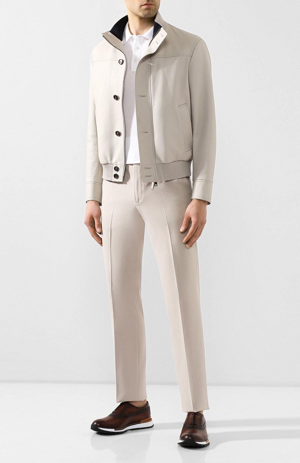 Мужские хлопковые брюки LORO PIANA кремвого цвета, арт. FAL0982 | Фото 2