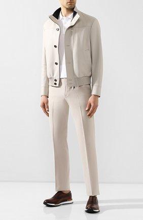 Мужской хлопковые брюки LORO PIANA кремвого цвета, арт. FAL0982 | Фото 2