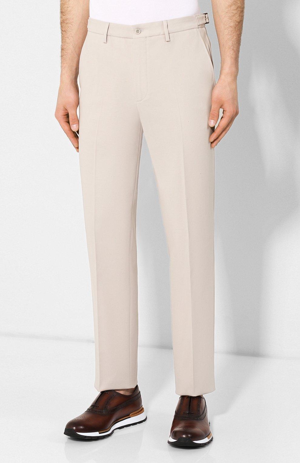 Мужские хлопковые брюки LORO PIANA кремвого цвета, арт. FAL0982 | Фото 3