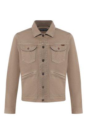 Мужская хлопковая куртка TOM FORD бежевого цвета, арт. BUJ35/TFD116 | Фото 1