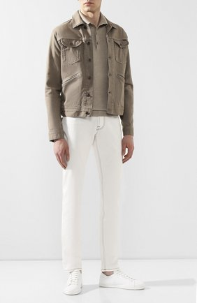 Мужская хлопковая куртка TOM FORD бежевого цвета, арт. BUJ35/TFD116 | Фото 2