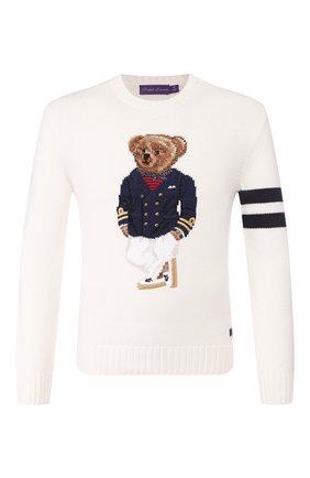 Мужской кашемировый свитер RALPH LAUREN белого цвета, арт. 790787791 | Фото 1