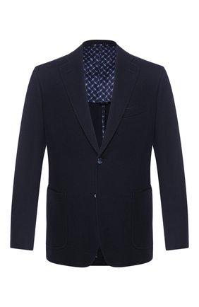 Мужской хлопковый пиджак ZILLI темно-синего цвета, арт. MNT-ECX3-1-C6071/M600 | Фото 1