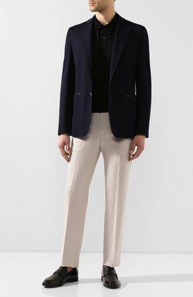 Мужской хлопковый пиджак ZILLI темно-синего цвета, арт. MNT-ECX3-1-C6071/M600 | Фото 2
