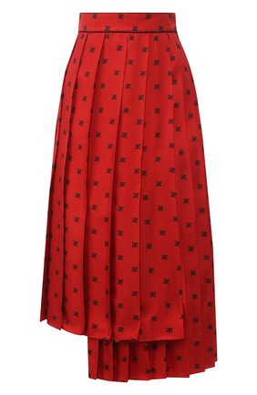 Женская шелковая юбка FENDI красного цвета, арт. FQ7132 A9DQ | Фото 1