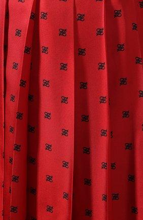 Женская шелковая юбка FENDI красного цвета, арт. FQ7132 A9DQ | Фото 5